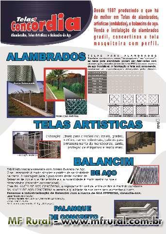 TELAS DE ARAME:  ALAMBRADO,TELAS ARTISTICAS  E AFINS
