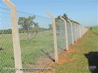 """ALAMBRADOS: fabricamos malhas de 7/8 a 4"""" arame galvanizado e PVC até 6 m de alt"""