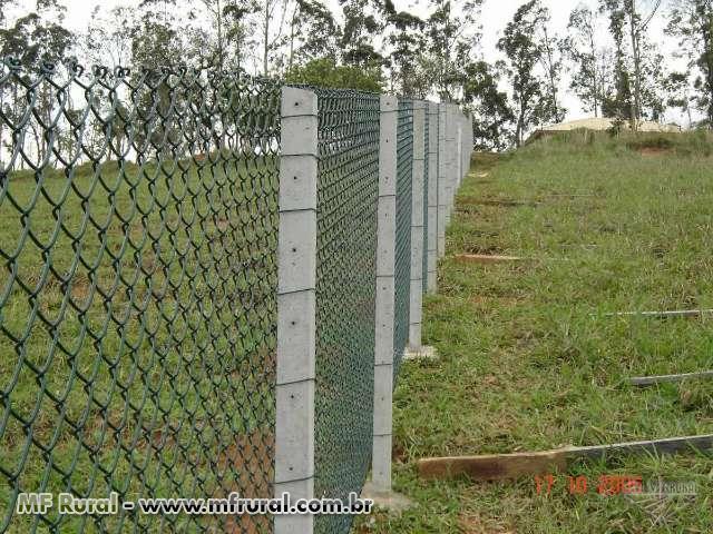 Tela em pvc verde telas de alambrado em arame revestido for Tela para muro verde