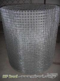 TELA ARTÍSTICA (ondulada) - Fabricada em diversas malhas em arame galvanizado