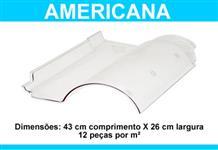 Telhas transparentes em Policarbonato - Romana, Portuguesa e Americana