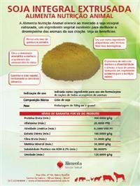 Farelo de Soja Integral Extrusado ensacado ou á granel