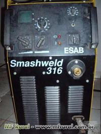 Maquina Mig Esab Smashweld 316 semi nova, pouco uso, regulador de pressão, tocha