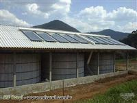 Silo para secagem e armazenagem de grãos com energia solar