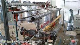 Máquina automática para fabricação de telas e alambrados