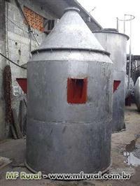 Silo de aço inox 5000 litros