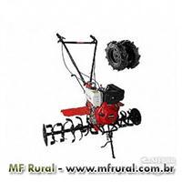 Motocultivador tratorito BD-10 CV Branco diesel partida manual/elétrica