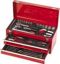 Maleta Plástica JJ-MT90, caixa metal de 3 seções, 90 peças, uso profissional