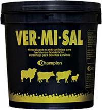 Vermisal (VER-MI-SAL) - Mineralizante e anti-anêmico, vermífugo para bovinos e ovinos - 1,1 KG