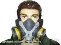 Mascara Respirador Alltec 2 Filtros Vapores Orgânicos e Gases Ácidos