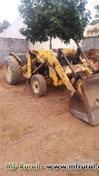 Maquina Pá Carregadeira Pula Pula Massey Ferguson 65R areia e pedra
