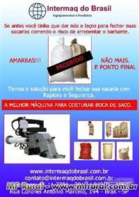 COSTURA BOCA DE SACOS DE RÁFIA,JUTA, ALGODÃO, TNT, PAPEL, KRAFT, PLÁSTICO OUTROS