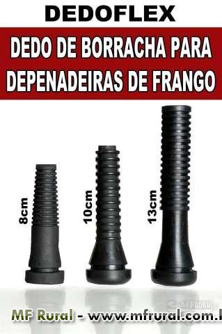 DEDOS DE BORRACHA PARA DEPENADEIRAS DE FRANGO