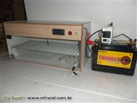 CHOCADEIRA 60 OVOS (110V, 220V e Bateria 12V) - AUTOMATICA -TRIVOLT -GC 60 T