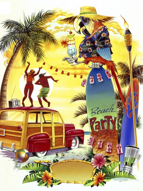 Poster Woodie Beach Party