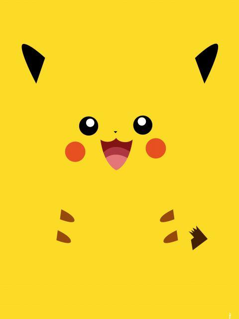 Poster Pikachu Minimalista Pokemon