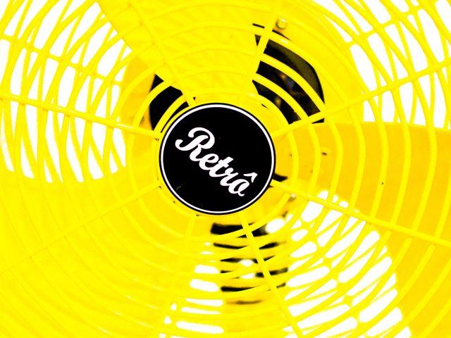 Poster Retrô   ventilador amarelo