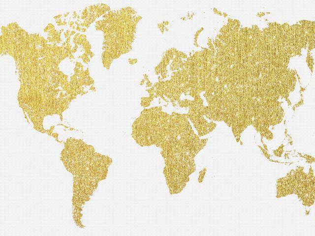 Poster Mapa dourado