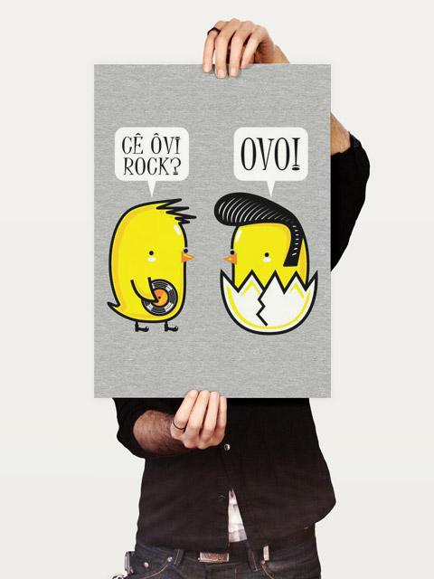 Poster Eu Ovo Rock