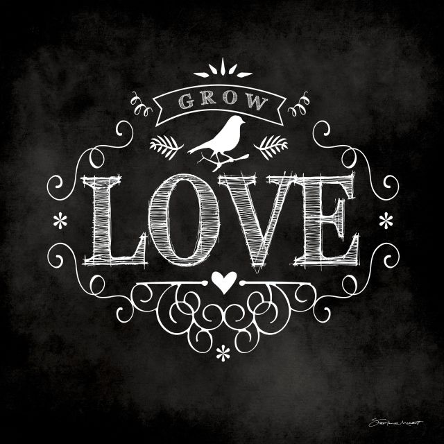 Poster Love chalkboard