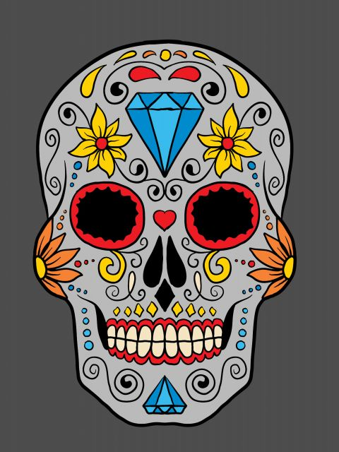 Poster Skull and Gray