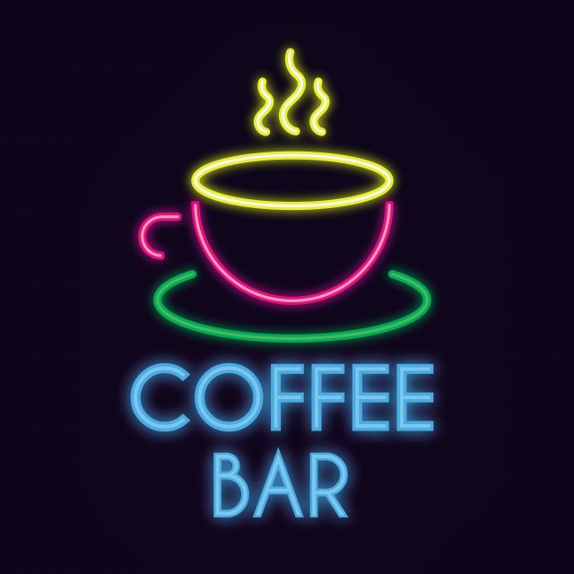 Poster Coffee Bar Neon