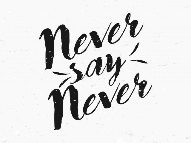 Poster Nunca diga nunca