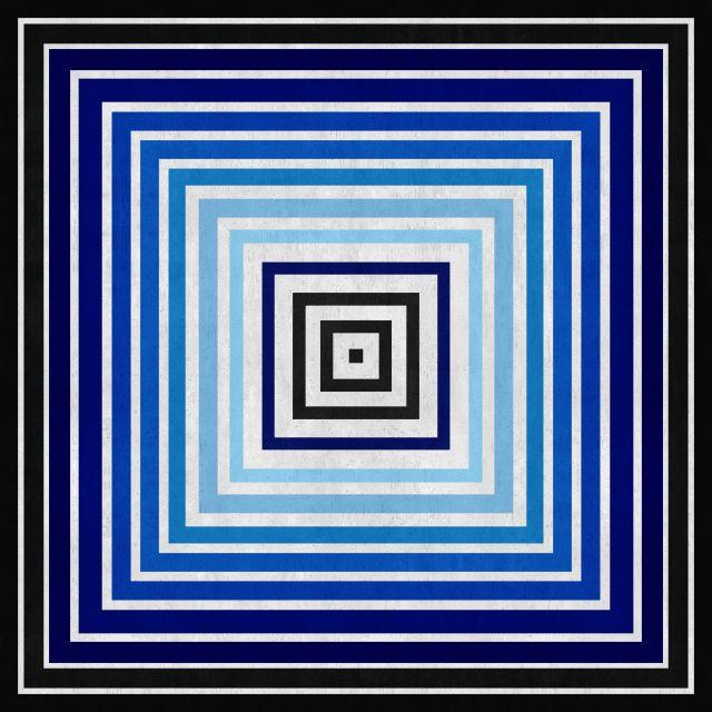 Poster Abstrato em tons de azul