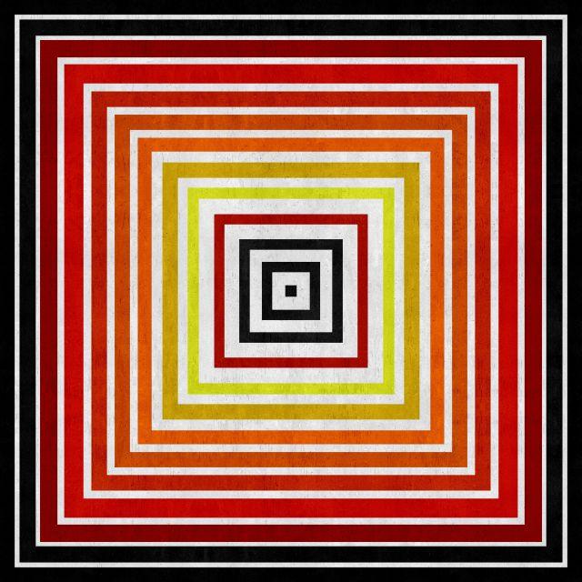 Poster Abstrato em tons de vermelho
