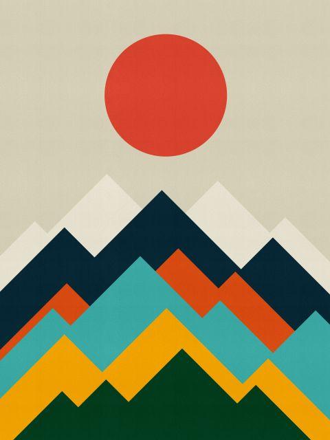 Poster Paisagem geométrica