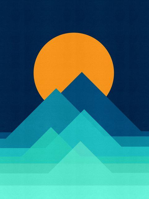 Poster Paisagem geométrica I