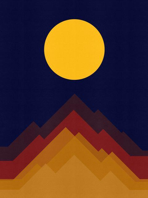 Poster Paisagem geométrica II