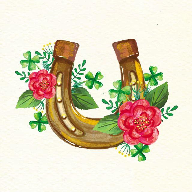 Poster Boa Sorte  colorido ferradura