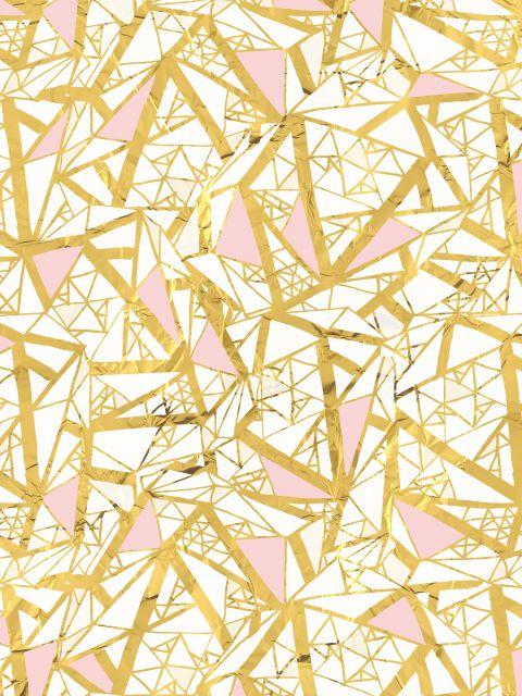 Poster Padrão Dourado e Rosa