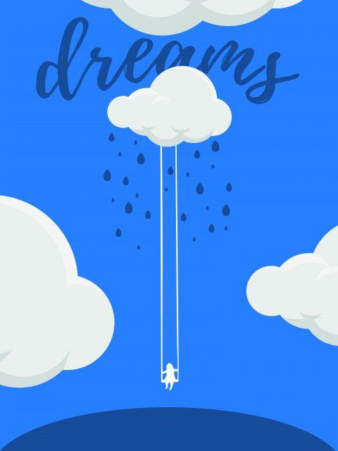 Poster DREAMs  sonho nuvem azul
