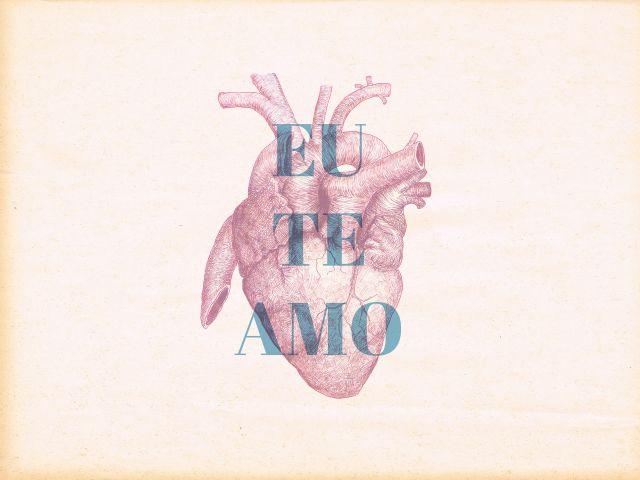 Poster Eu te amo   coração