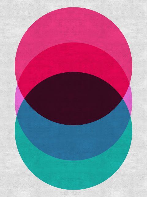 Poster Minimalista Rosa e Azul
