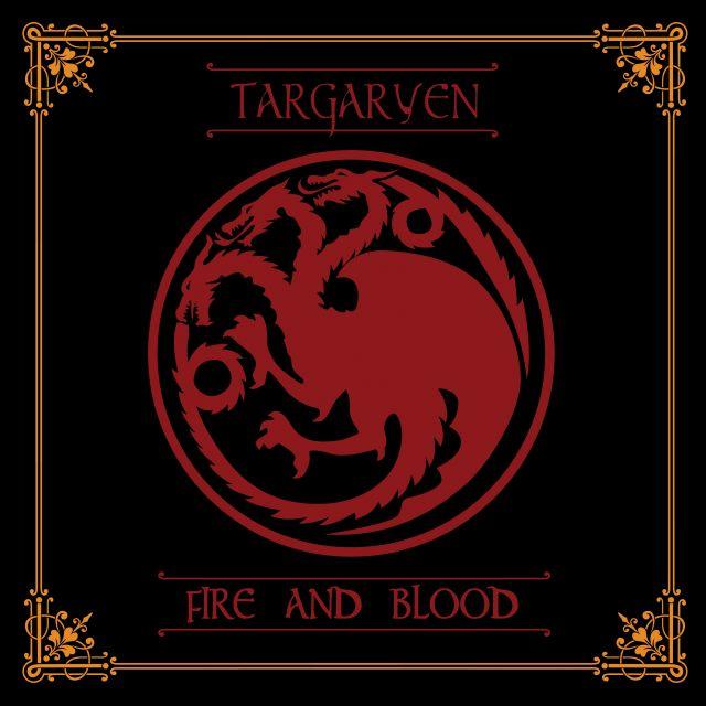 Poster Targaryen Game of Thrones  house targaryen