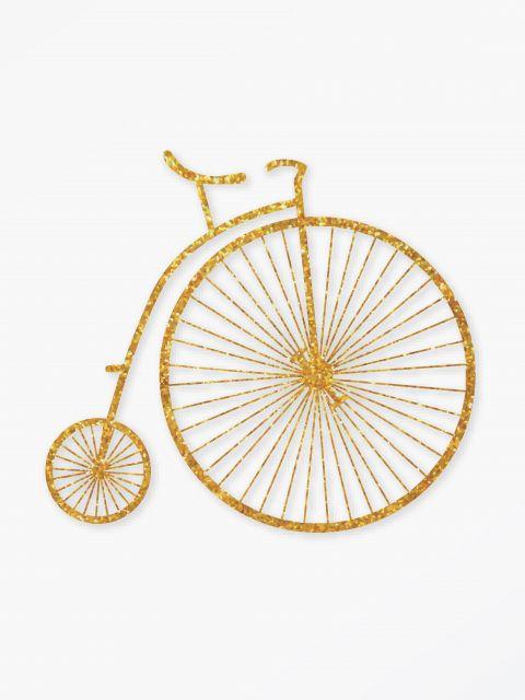 Poster Bicicleta Vintage Dourada