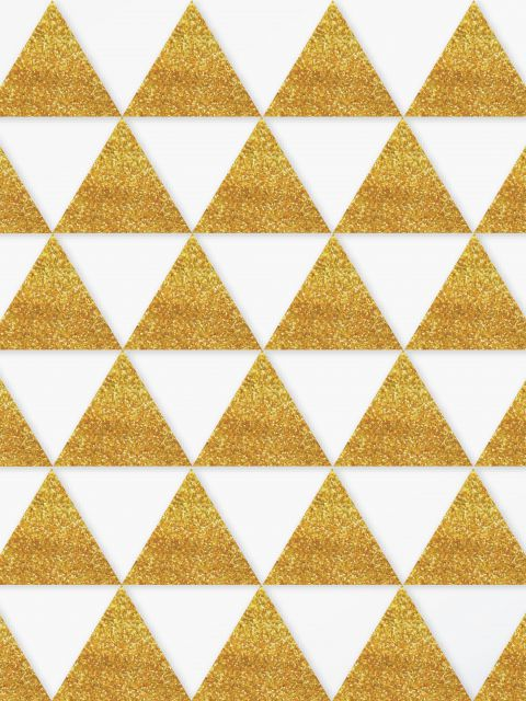 Poster Triângulos de Ouro   dourado
