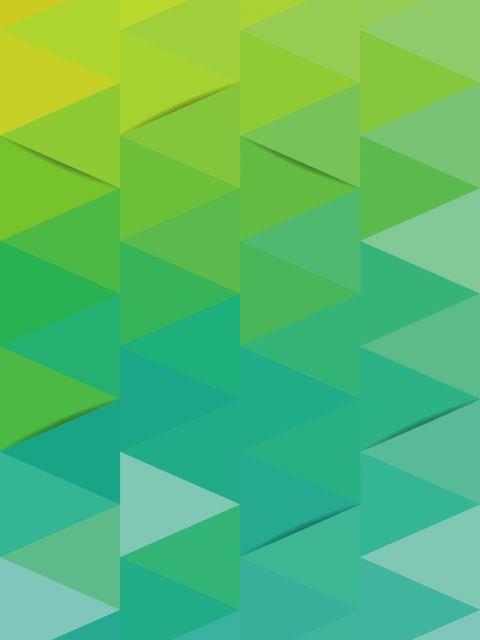 Poster Geométrico azul e verde