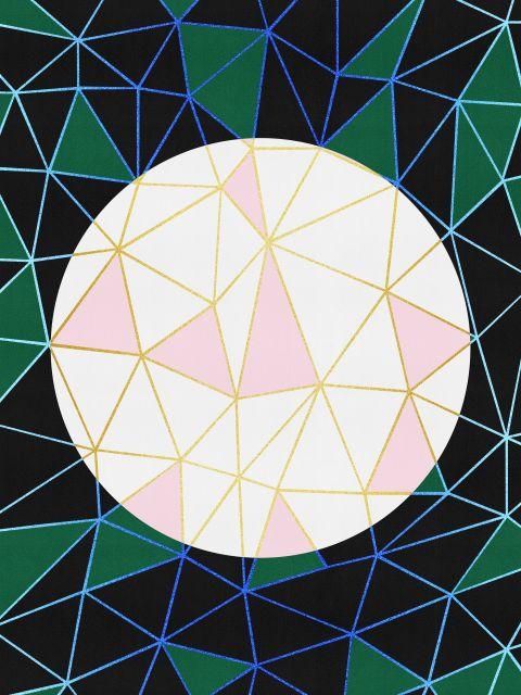 Poster Abstrato com circulo