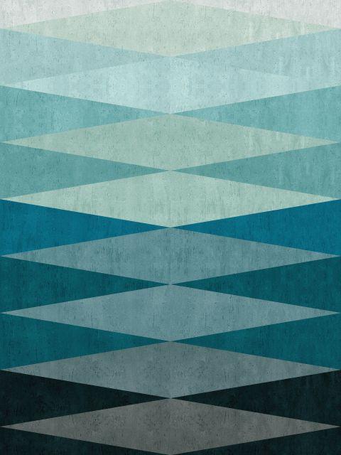 Poster Abstrato com Triangulos