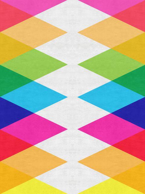 Poster Geométrico e colorido