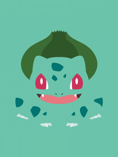 Poster Bulbasaur Minimalista   pokemon