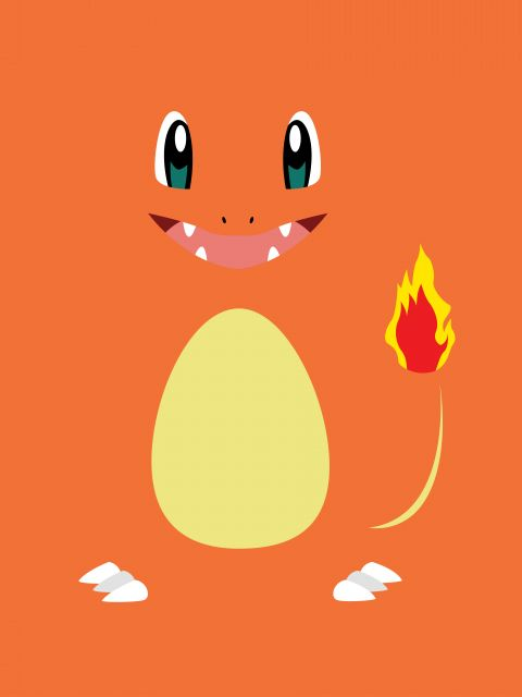 Poster Charmander Minimalista   pokemon