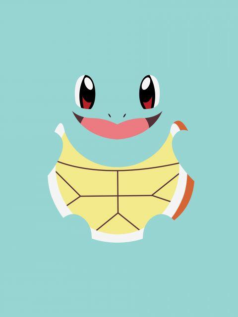 Poster Squirtle Minimalista   pokemon