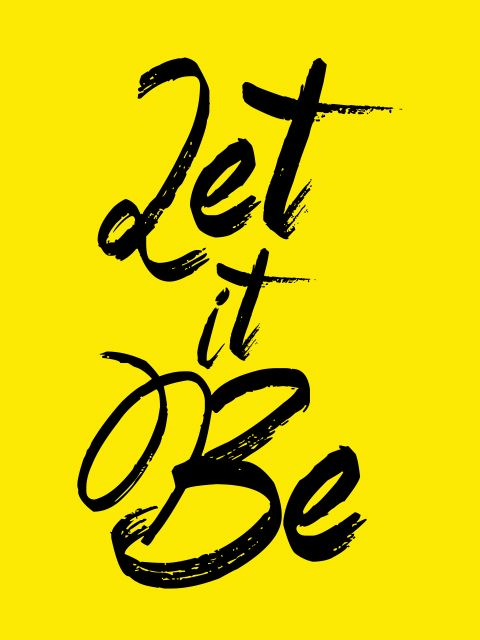 Poster Let It Be - The Beatles