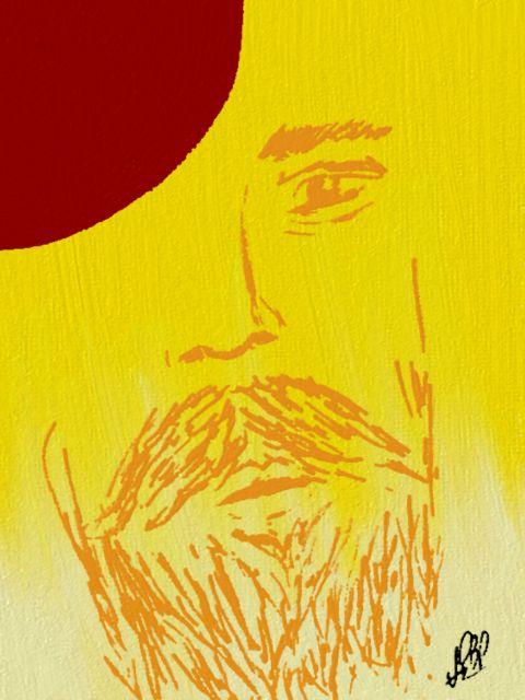 Poster Meio Rosto   rosto