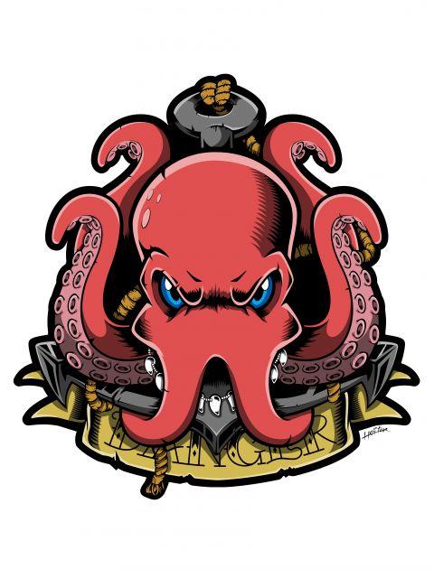 Poster Octopus Danger Sea   polvo